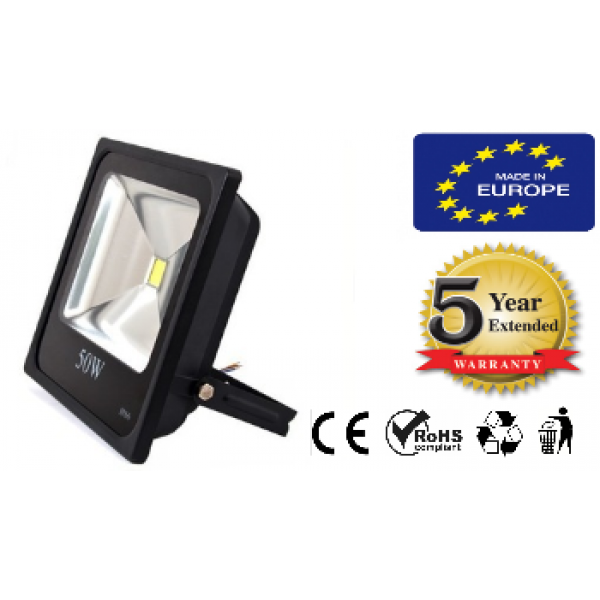 LED FLOODLIGHT 50W 90-260V SLIM