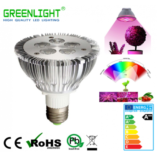 Led Spot E27 5.8W 90-260Vac GROW