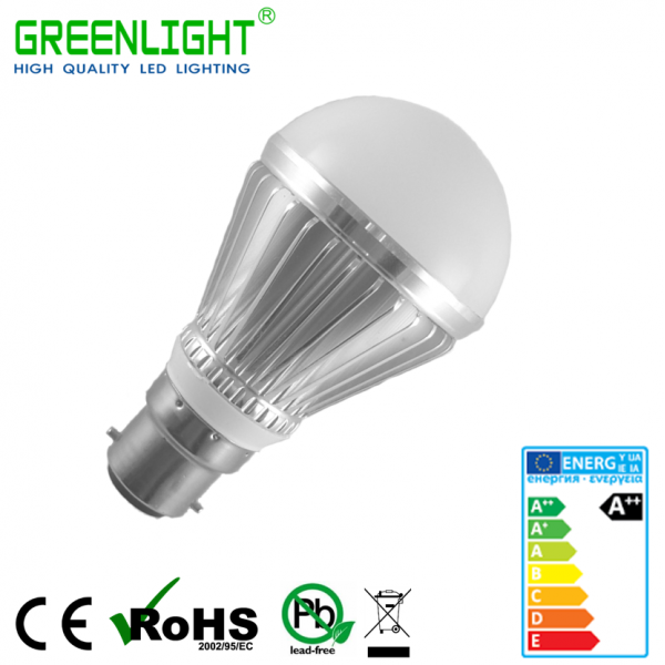 Led Bulb B22 7.5W 90-260Vac White