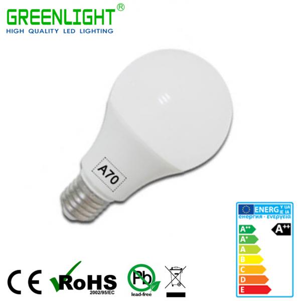 Led Bulb A70 E27 18W 220-240Vac White
