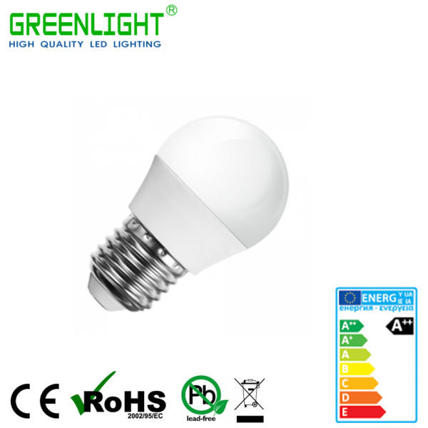 Led Bulb G45 E27 4W 220-240Vac White