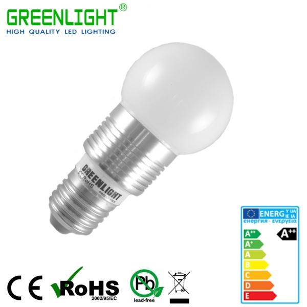 Led Round Bulb E27 3.9W 90-260Vac White