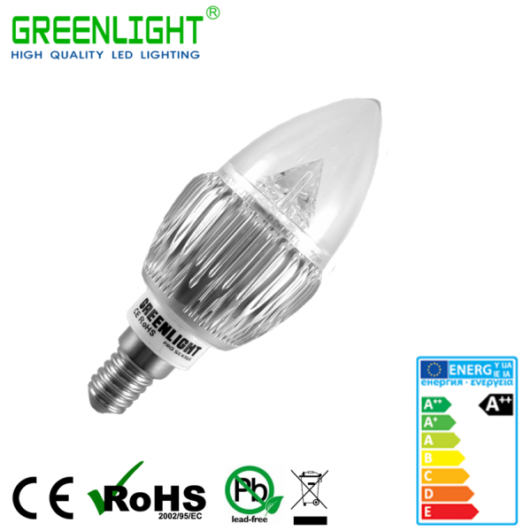 Led Candle E14 4.8W 90-260Vac White