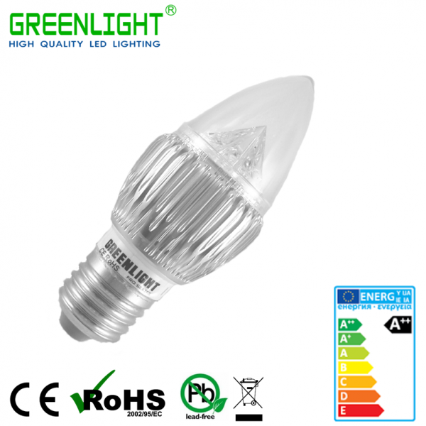 Led Candle E27 4.8W 90-260Vac White