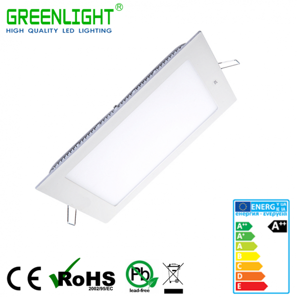 Led Square Panel 24W 85-265Vac White
