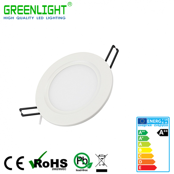 Led Round Panel 3W 85-265Vac White