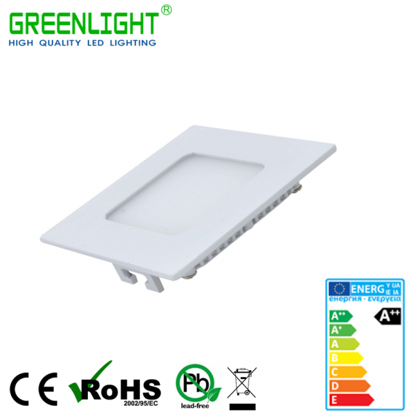Led Square Panel 3W 85-265Vac White