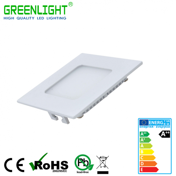 Led Square Panel 6W 85-265Vac White
