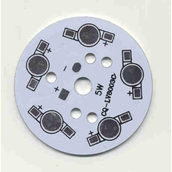 Bulb PCB 5x1W Aluminium